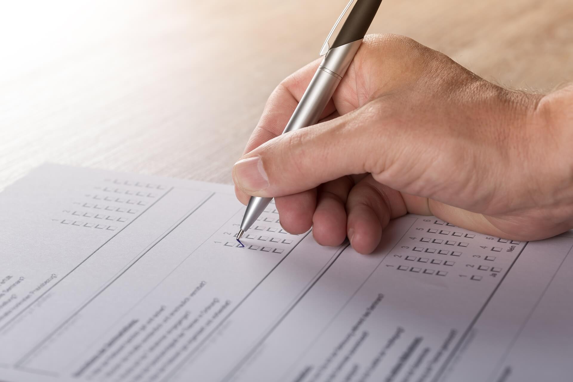 Fragebogen ausfüllen - Begabungsdiagnostik für Erwachsene