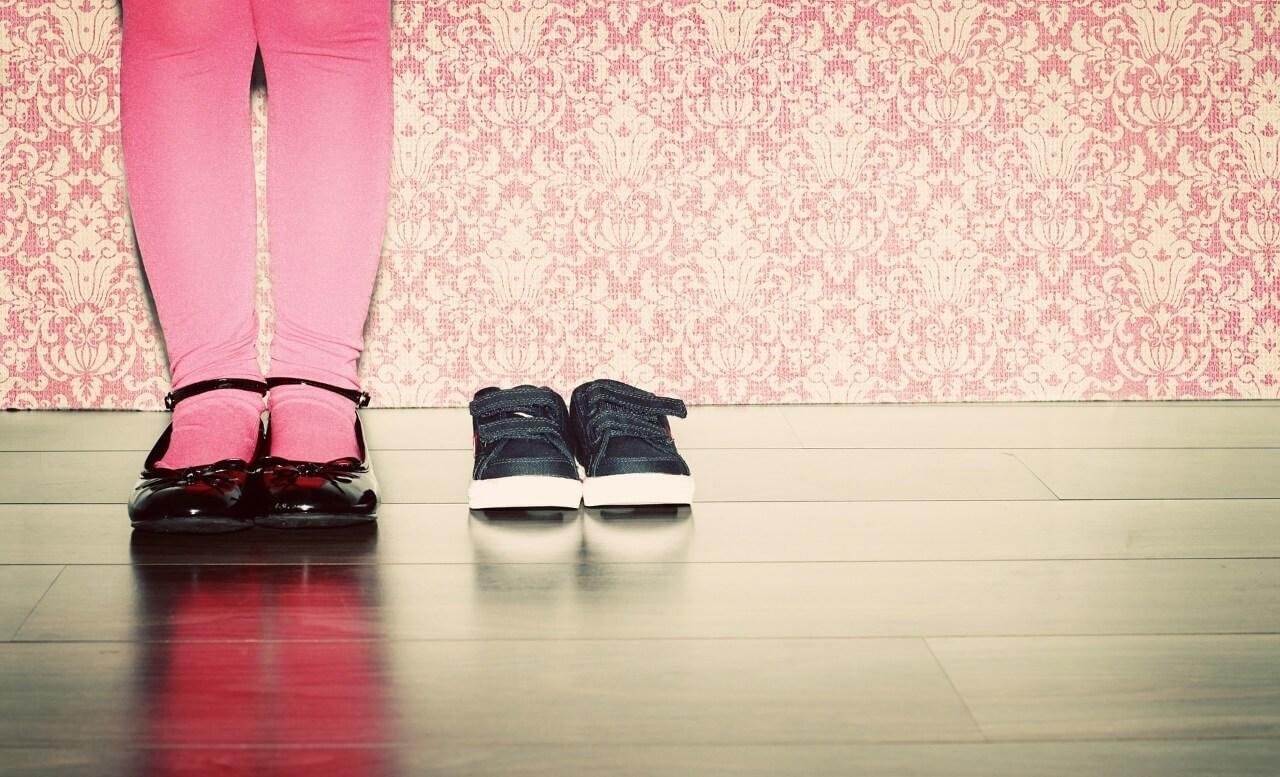 Schuhe eines Kindergartenkindes